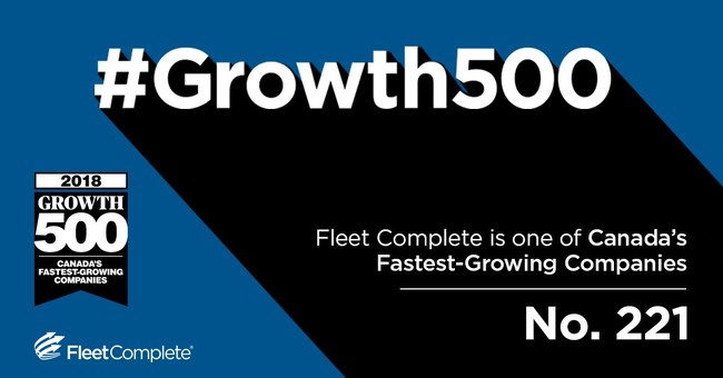 Fleet Complete celebrates 10th year as Growth 500 company. (CNW Group/Fleet Complete)