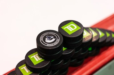 Canucks Sports & Entertainment and TD announced a new agreement on Thursday in which TD became the official bank and sponsor of the Vancouver Canucks (CNW Group/TD Bank Group)