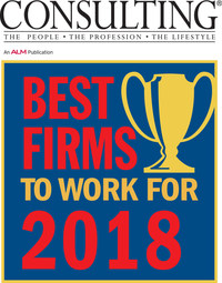 CapTech ranks #6 in Consulting Magazine's 2018 Best Firms to Work For for the third consecutive year. This year marks the 7th year the firm has been in the Top 10.