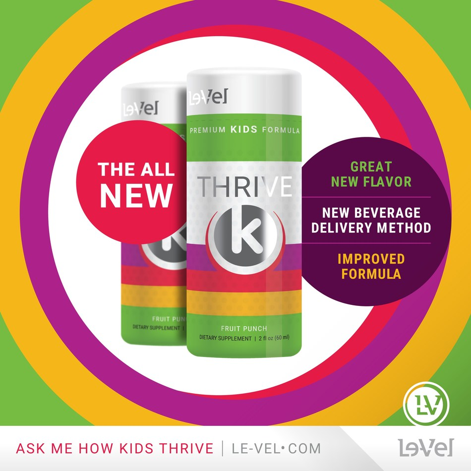 Le-Vel introduces all-new Thrive K for Kids