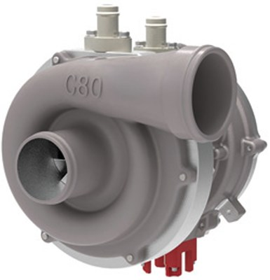 COBRA (Controlled Boosting for Rapid Response Application) is a liquid cooled Switched Reluctance motor directly driving a compressor for medium- to heavy-duty vehicle applications. It uses stored electrical energy to increase the supply of air to an internal combustion engine thereby enabling improvements in combustion to reduce transient emissions and improve fuel economy.  ©2018 Federal-Mogul LLC