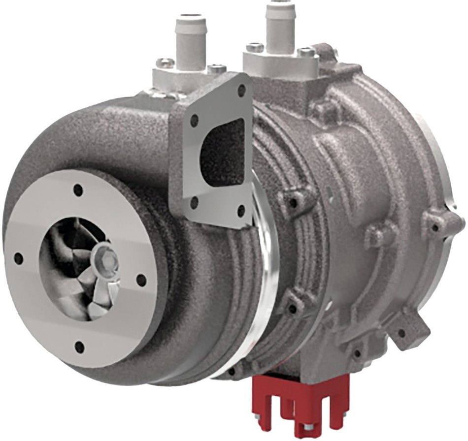TIGERS® (Turbo-generator Integrated Gas Energy Recovery System) integrates an exhaust driven turbine with a liquid-cooled Switched Reluctance generator to harvest exhaust gas energy for storage as electrical energy, supporting increased vehicle electrical demands and other CO2 and emissions reduction strategies. ©2018 Federal-Mogul LLC
