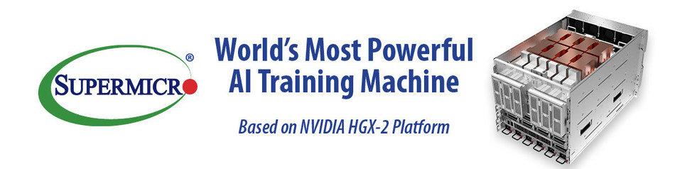 Supermicro's New HXG-2 SuperServer with 16 Tesla V100 32GB SXM3 GPUs