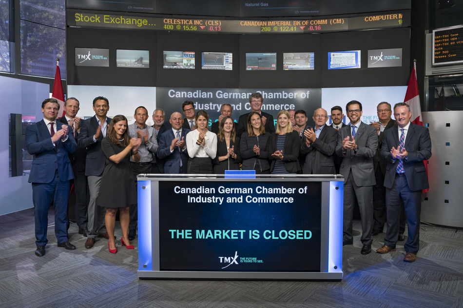Canadian German Chamber of Industry and Commerce Inc. Closes the Market (CNW Group/TMX Group Limited)
