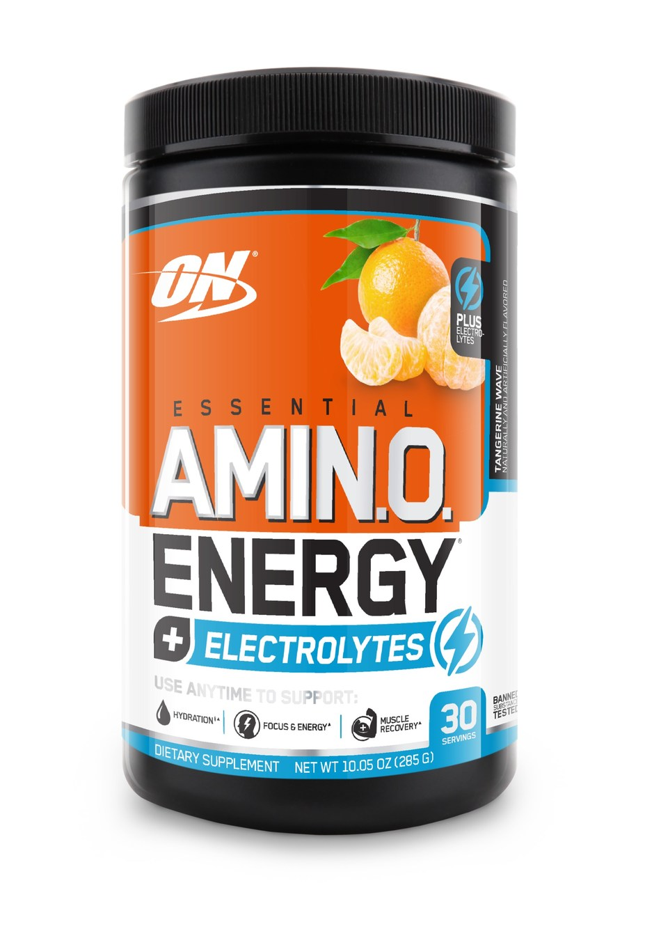 Optimum Nutrition ESSENTIAL AMIN.O. ENERGY Plus Electrolytes™ contains amino acids to help support muscle recovery and natural caffeine for energy plus electrolytes to replace the electrolytes lost through sweat