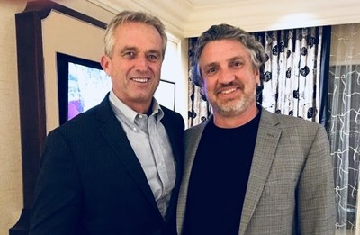 Robert F. Kennedy, Jr. (left), represented ICAN and founder Del Bigtree in its successful lawsuit against HHS.