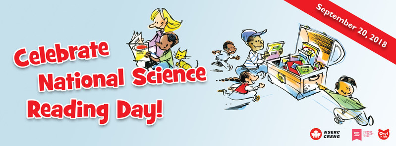 On September 20, elementary and secondary school teachers and kids 3-17 are invited to devote a period of the day to science readings. $3,000 in books and magazines to be won! (CNW Group/Owlkids)