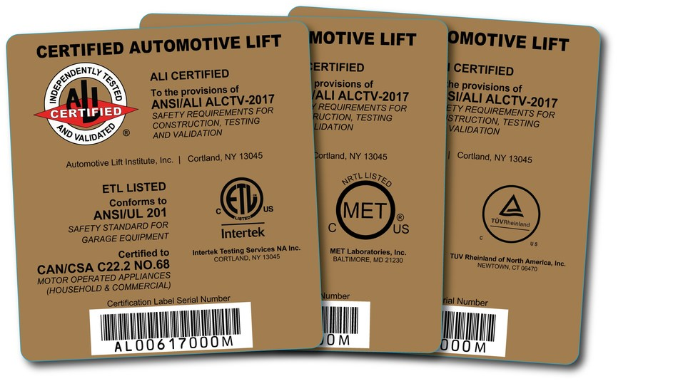 Earning one of these Automotive Lift Institute (ALI) gold certification labels is a little more challenging under the new edition of ANSI/ALI ALCTV now in effect, and that's good news for lift operator safety.