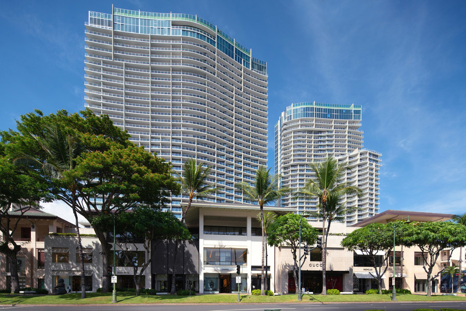 The Ritz-Carlton Residences, Waikiki Beach debuts its new Diamond Head Tower on October 15, 2018, marking the completion of the 552-room resort.