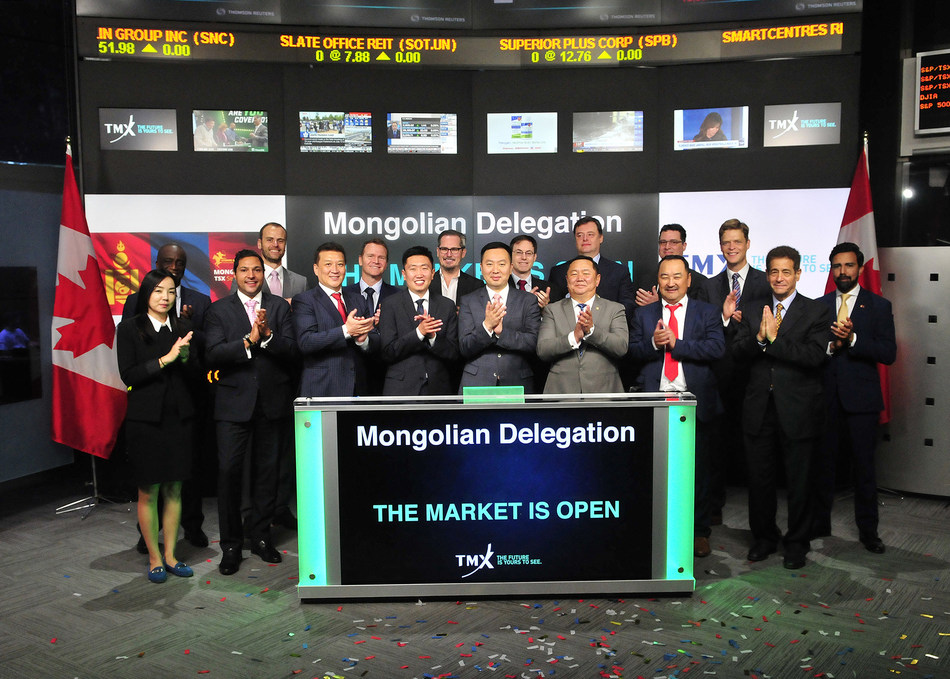 Mongolian Delegation Opens the Market (CNW Group/TMX Group Limited)
