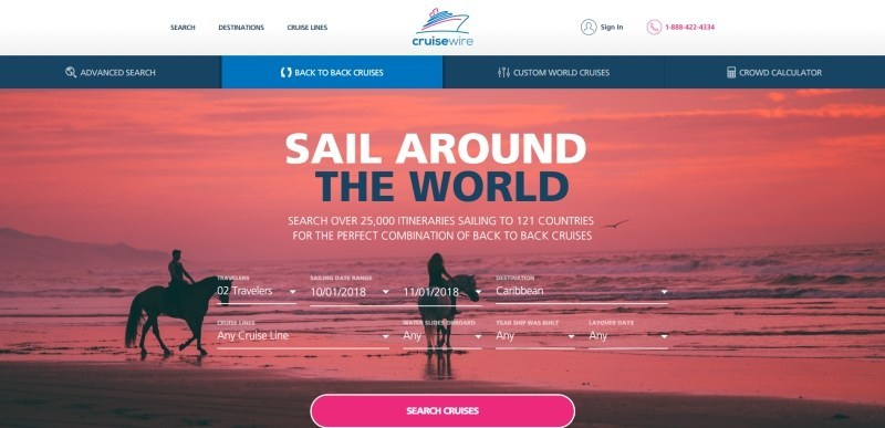 CruiseWire Back to Back Cruise Search (PRNewsfoto/CruiseWire)