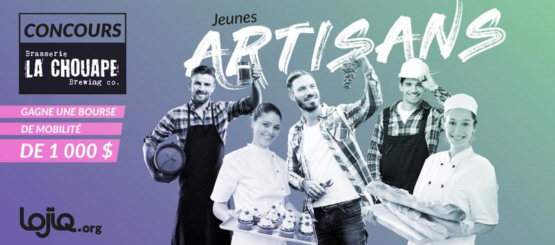 LOJIQ - Les Offices jeunesse internationaux du Québec et la microbrasserie La Chouape invitent les jeunes artisans du Québec à participer à un concours pour se mériter des bourses de perfectionnement en Europe (Groupe CNW/Les Offices jeunesse internationaux du Québec)