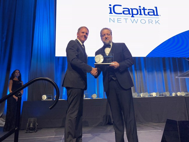 Dan Vene, iCapital Network's co-founder and Managing Partner, accepted the award at the ceremony