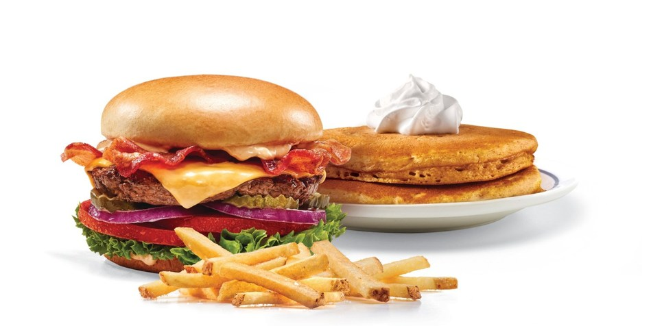 On Tuesday, September 18, guests who purchase any IHOP Ultimate Steakburger can get a stack of two Pumpkin Spice or Original Buttermilk pancakes for free along with another side item