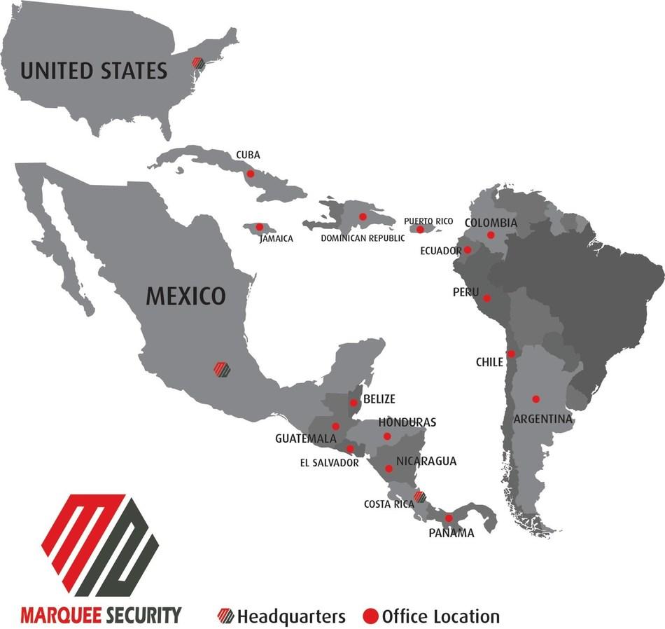 Marquee Security (marqueesecurity.com): escritórios localizados na América do Norte, Central, Latina e do Sul