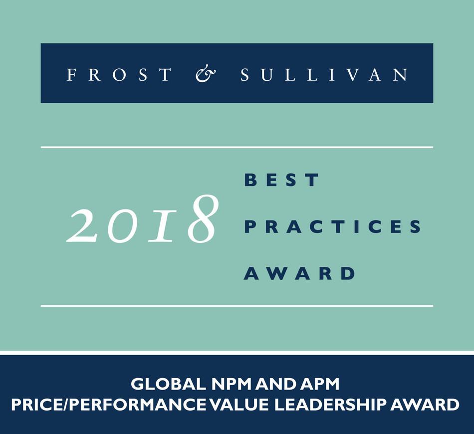 2018 Global NPM and APM Price/Performance Value Leadership Award (PRNewsfoto/Frost & Sullivan)
