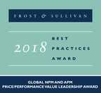 2018 Global NPM and APM Price/Performance Value Leadership Award (PRNewsfoto/Frost & Sullivan)