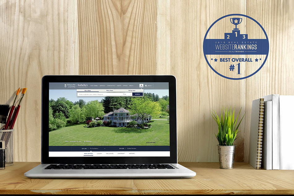 William Pitt and Julia B. Fee Sotheby's International Realty Website Named Best Overall Residential Real Estate Website in the Nation by REAL Trends