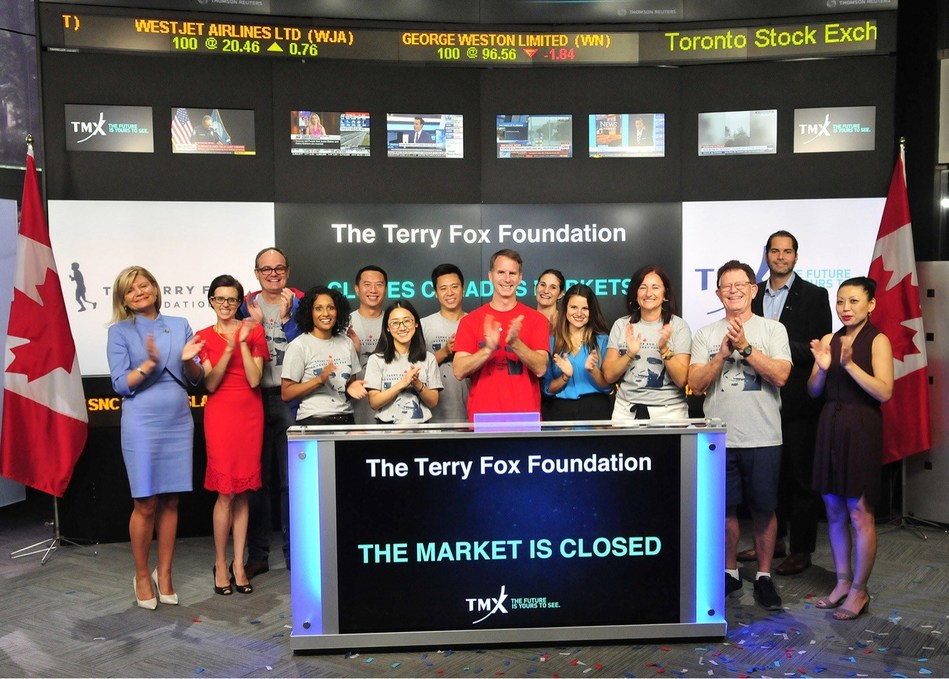 The Terry Fox Foundation Closes the Market (CNW Group/TMX Group Limited)