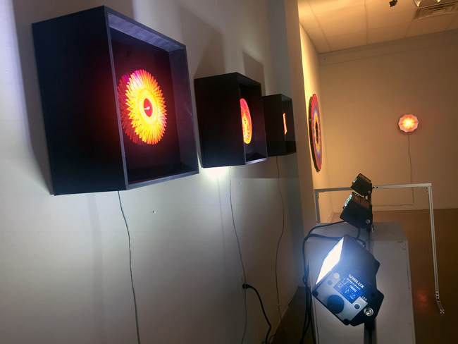 Strobes with Smart Assist enable visual demonstration of pattern and geometry for NYC art show