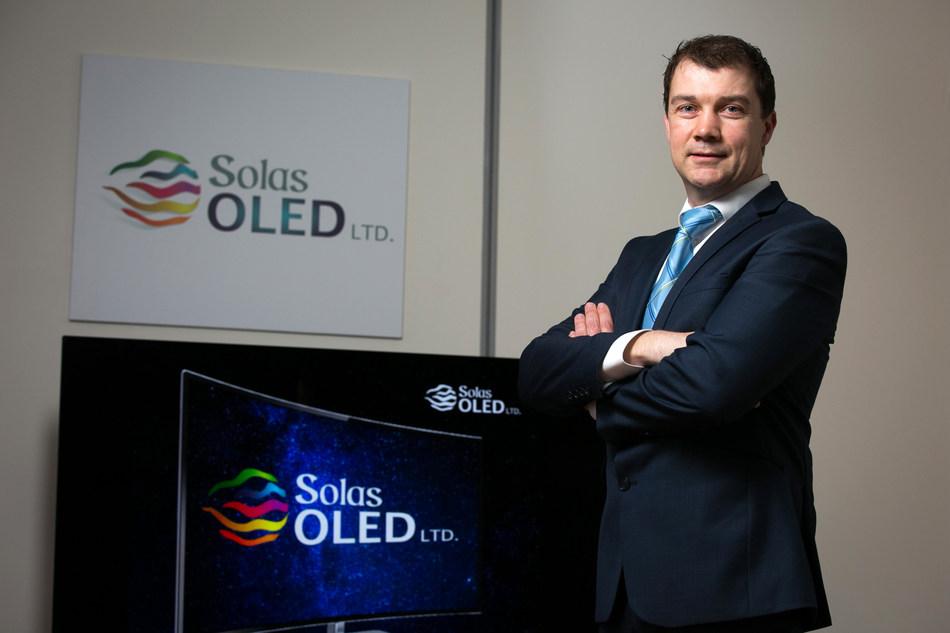 Pictured is Ciaran O'Gara, Managing Director, Solas OLED