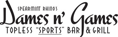 Spearmint Rhino's Dames N' Games logo