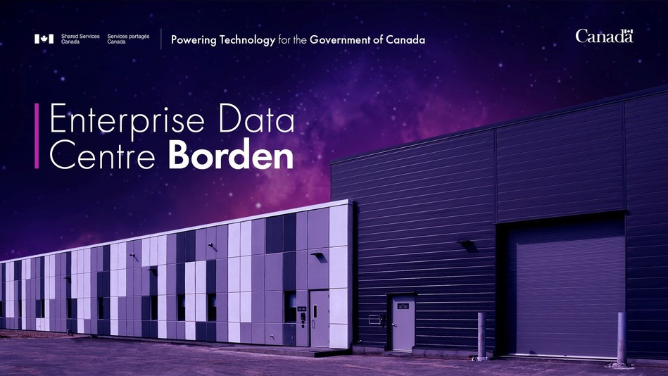 Enterprise Data Centre Borden (CNW Group/Shared Services Canada)