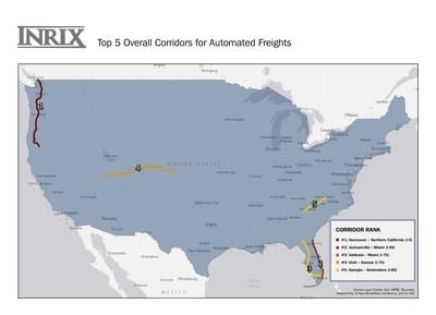 Top Five US Combined Corridors for HAV Deployment