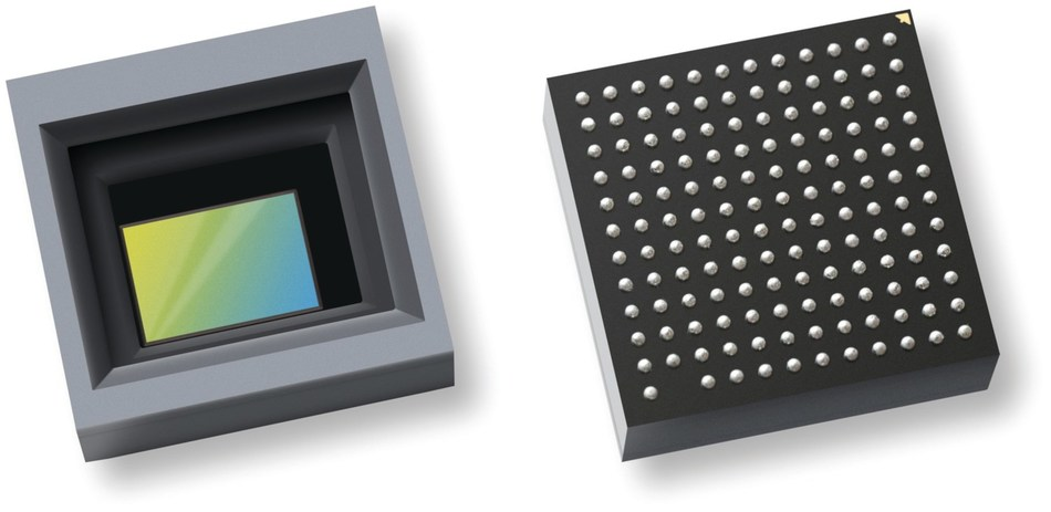 OmniVision, Texas Instruments and Leopard Imaging collaborated on the automotive industry's first HD camera module to fit all its components on a single PCB, including the OmniVision OX01B40 image sensor plus image signal processor system-in-package that is shown here.