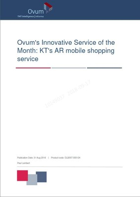 KT's AR Market Wins OVUM's Best Innovation of the Month