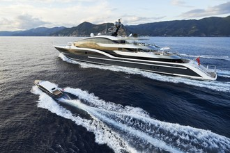 Oceanco's recently delivered motoryacht, 90m DAR has won the World Yacht Trophy Award for Yacht of the year in Cannes at the Carlton Hotel (PRNewsfoto/Oceanco)