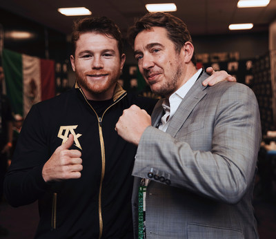 Canelo Alvarez and Giles Woodyer. Credit Lauren Cowart