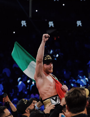 Canelo Alvarez Post Fight. Credit Lauren Cowart
