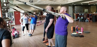 Peter and Sierra Cordrey's exercise routine got an overhaul after participating in a couples' health clinic organized by Wounded Warrior Project® (WWP).  The three-day health clinic in Atlanta included exercise and nutrition workshops.