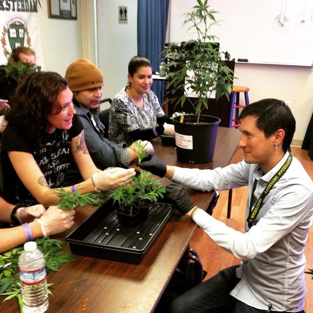 Students participating in Oaksterdam University's Horticulture Seminar.