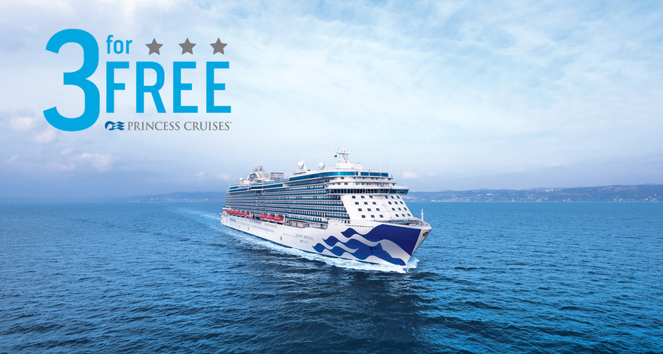 "Princess Cruises ""3 for Free"" for Everyone Sale Returns Offering Onboard Perks on Cruise Vacations to Worldwide Destinations"