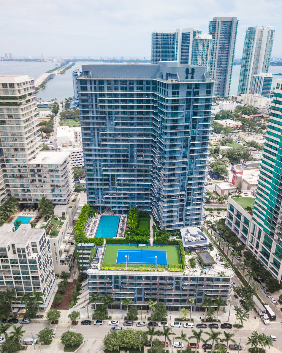 sbe, the Los Angeles-based leading lifestyle hospitality company, announces the opening of HYDE Hotel & Residences Midtown Miami in partnership with renowned developer, The Related Group, and Haim Yehezkel, CEO of Elysee investments, owner of the 60 hotel units. (PRNewsfoto/sbe)