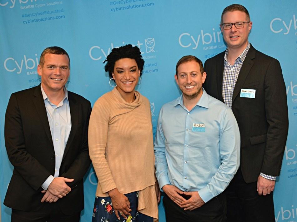 Cyber expert Nadav Zafrir; Purepoint CEO Jessica Robinson; Cybint CEO Roy Zur; Cybint Cyber Education Advisor Bryan Dickens