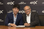 Brandon Choi, Chief Executive Officer, CJ 4DPLEX America (pictured left) and Ellis Jacob, President and Chief Executive Officer, Cineplex (pictured right) sign a new agreement that will bring the 4DX experience to as many as 13 additional Cineplex locations across Canada over the coming years. (CNW Group/Cineplex)