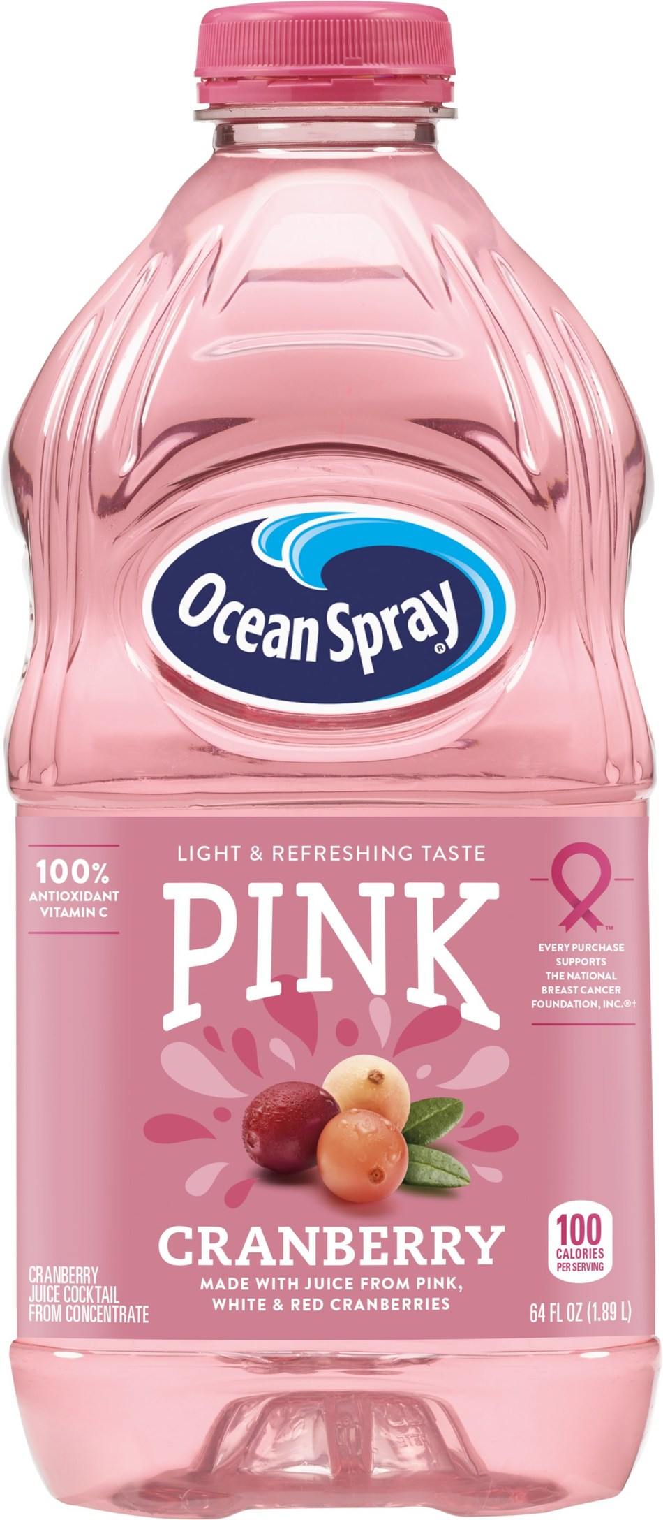 Ocean Spray launches its new Pink Cranberry Juice Drinks line in support of breast cancer awareness with 5% of Ocean Spray's sales of Pink Cranberry Juice Drink in the United States and Canada being donated to the National Breast Cancer Foundation, Inc.®, up to $250,000 annually.