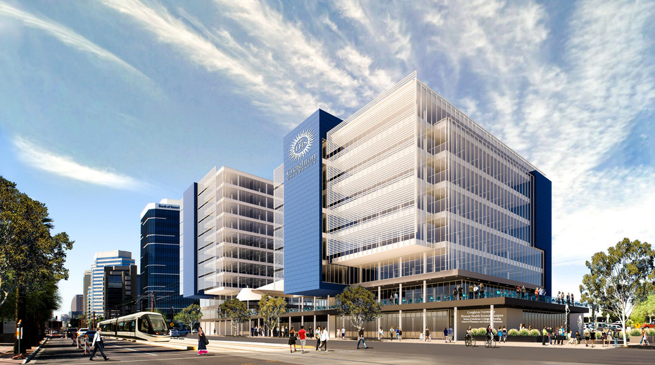 Rendering of Creighton University's new health sciences campus at Park Central