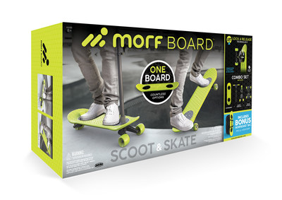 BJ's Wholesale Club announces its 2018 Top 10 Toys, including the MorfBoard Scooter & Skateboard Combo Set with BONUS MorfBoard Bag.