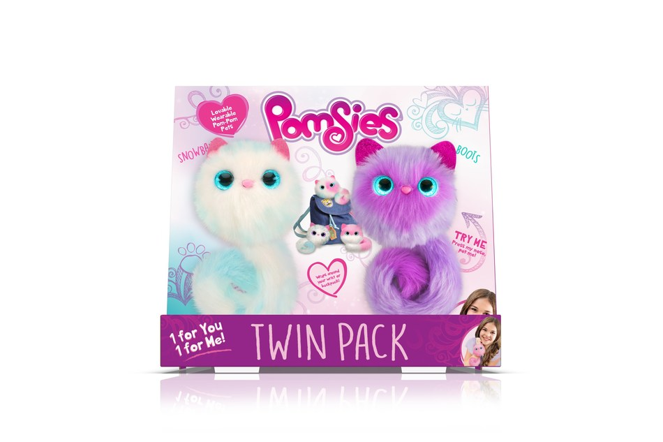 BJ's Wholesale Club announces its 2018 Top 10 Toys, including Pomsies, 2-Pack featuring Blossom & Patches or Snowball & Boots