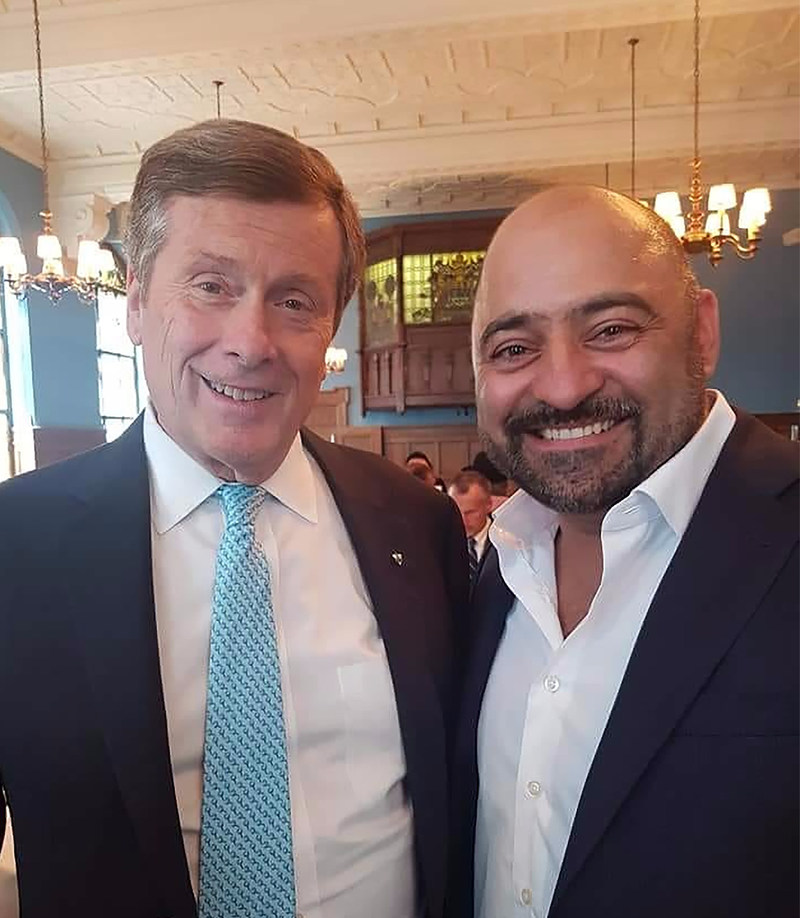 Vote to Elect DeSantis, City Councillor Candidate, Ward 18 Willowdale - Danny with Toronto Mayor John Tory (CNW Group/Danny DeSantis Election Campaign)