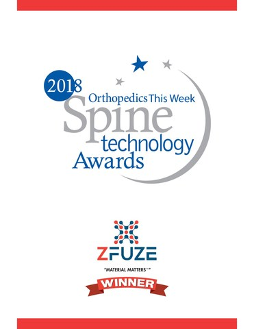 DiFusion's ZFUZE™ Biomaterial Wins Best Spine Technology for 2018