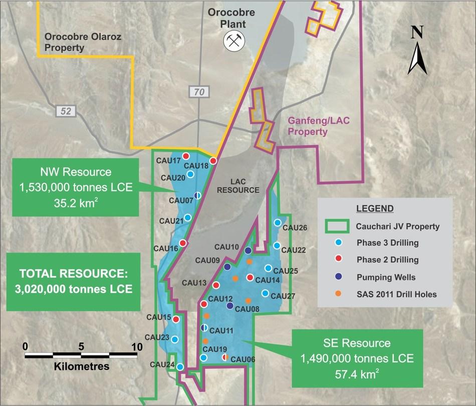 Figure 1 – location of CAU20 & CAU21 (CNW Group/Advantage Lithium Corp)