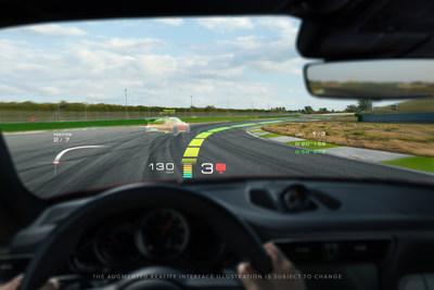 WayRay + Porsche - Track Interface - Ghost Car