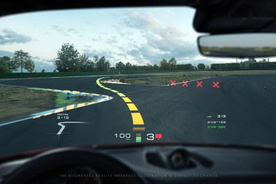 WayRay + Porsche - Track Interface - Turn