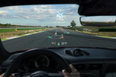 WayRay + Porsche - Track Interface - Finish