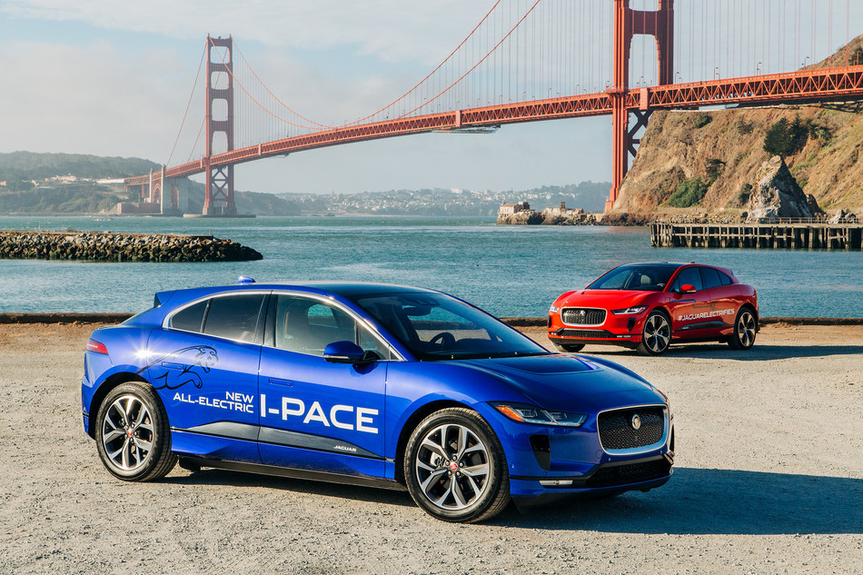 The Jaguar I-PACE in San Francisco.